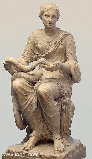 Asklepyos'un kızı Higiyeya