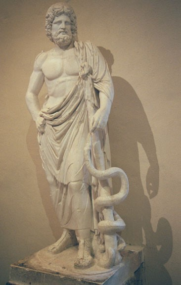 Hekimliğin tanrısı Asklepyos